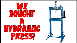 New 12 ton Princess Auto hydraulic shop press