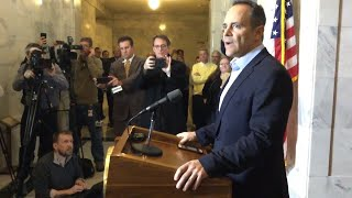 Watch Kentucky Governor Matt Bevin concede defeat