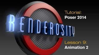 POSER Tutorial Lesson 09: Animation Part 2