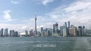 BEAUTIFUL PARK ON AN ISLAND IN A LAKE. TORONTO ISLAND PARK, CANADA 2017