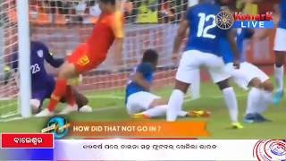 India vs China , Football Match  Draw 0-0 Against China