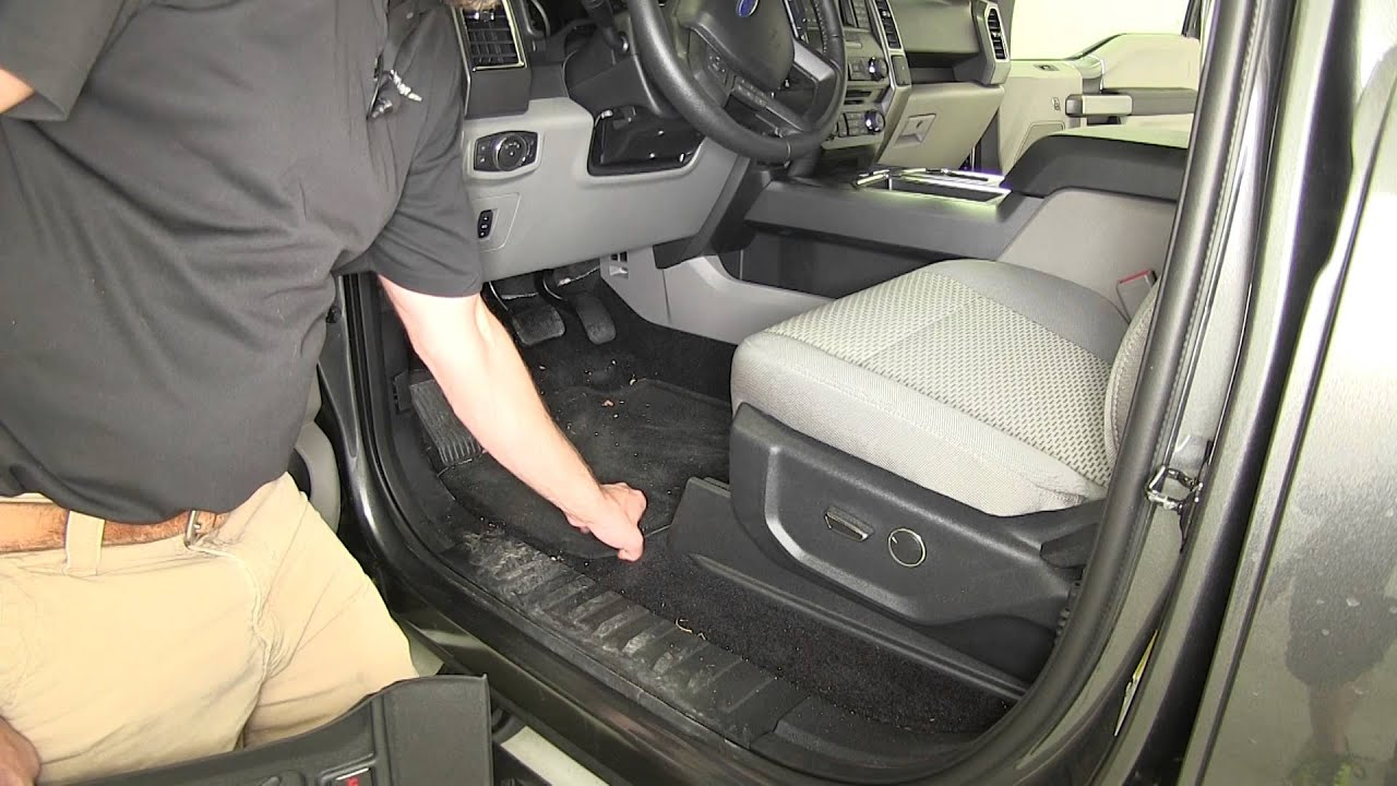 Review Of The WeatherTech Front Floor Liners On A 2015 Ford F 150    Etrailer.com   YouTube