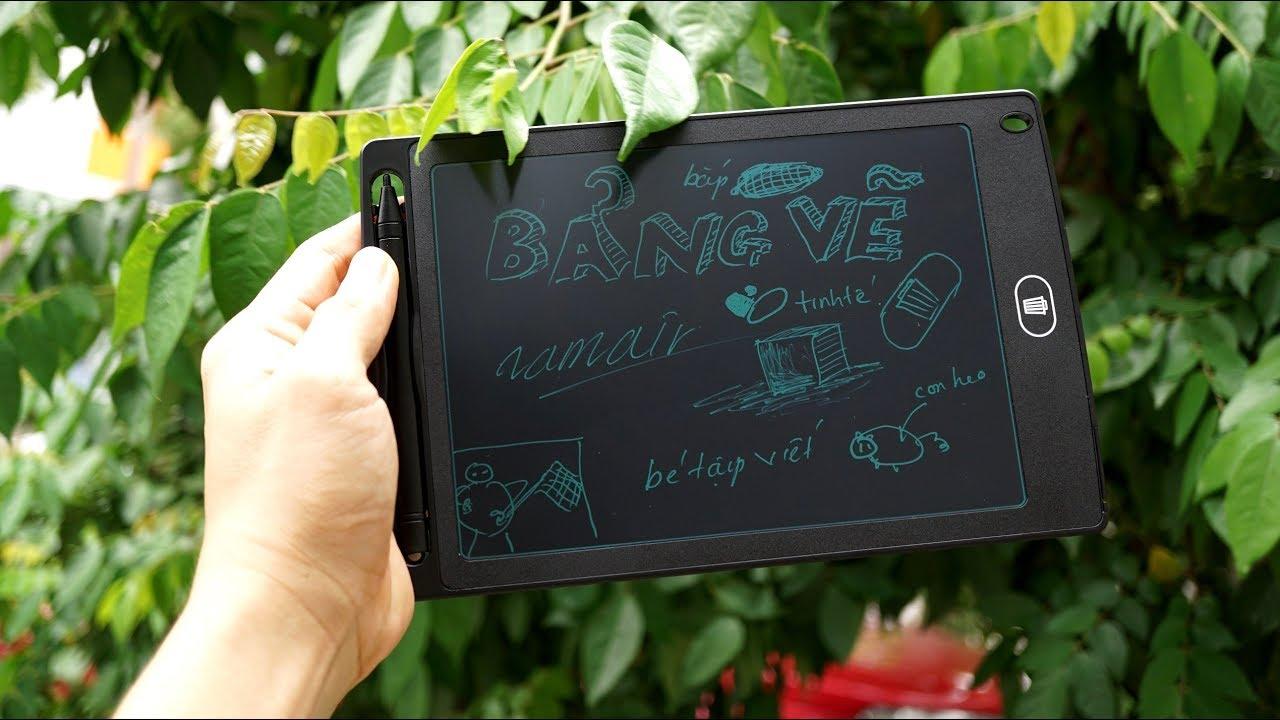Trên tay bảng vẽ LCD 8.5 inch cho trẻ con: giá rẻ, vẽ đẹp