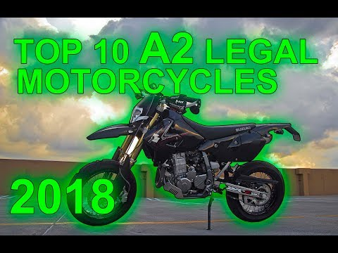TOP 10 A2 LICENCE LEGAL MOTORCYCLES 2018 UK
