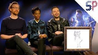 Актёры и режиссёры Войны Бесконечности угадывают персонажей Марвел по детским рисункам