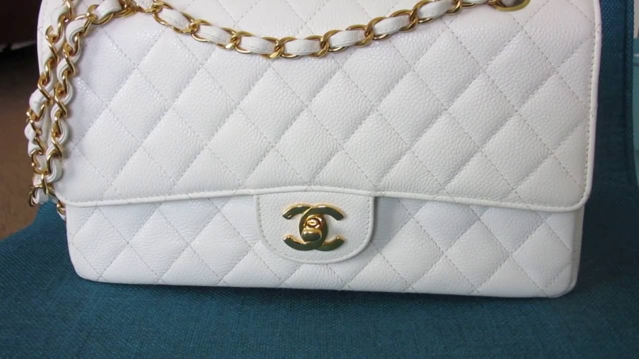 63db188e042e Chanel Classic Flap Bag Medium size- Quick review/wear and tear ...