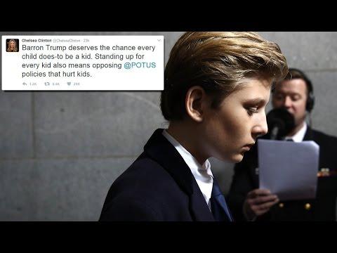 Chelsea Clinton Comes To Barron Trump's Rescue While Attacking Donald