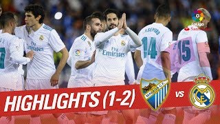 Resumen de Mlaga CF vs Real Madrid 1-2