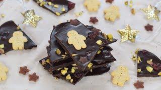 No-Junk Christmas Chocolate Bark Recipe (Ad)
