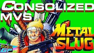 Metal Slug 1 Consolized MVS Real SNK Arcade Hardware Neo Geo Full Playthrough - Retro GP