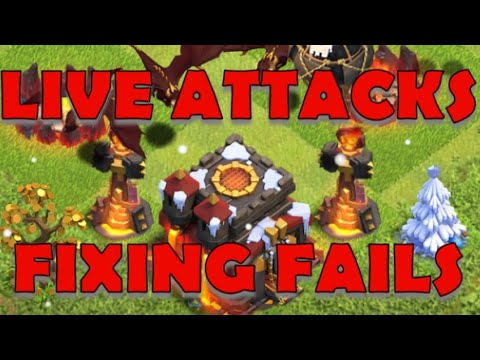 Live TH10 Attacks and Fixing Fails