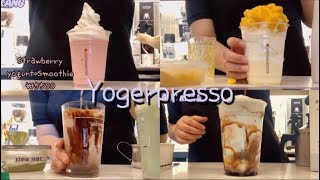 eng) [강강's cafe vlog] 요거프레소 알바…