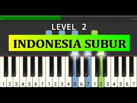 piano tutorial indonesia subur - lagu wajib nasional