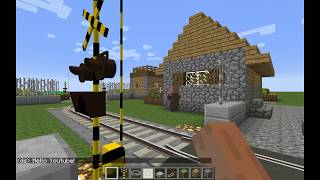 (TURN DOWN YOUR VOLUME!) Minecraft - RTM - How to Make a Working Railroad Crossing