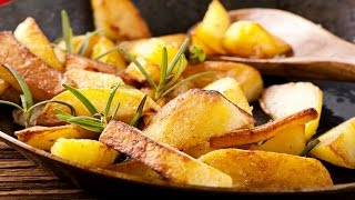 Как готовится жареная картошка.    How to cook fried potatoes.