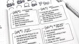 Simple 2019 Bullet Journal Setup (Setting Goals!)