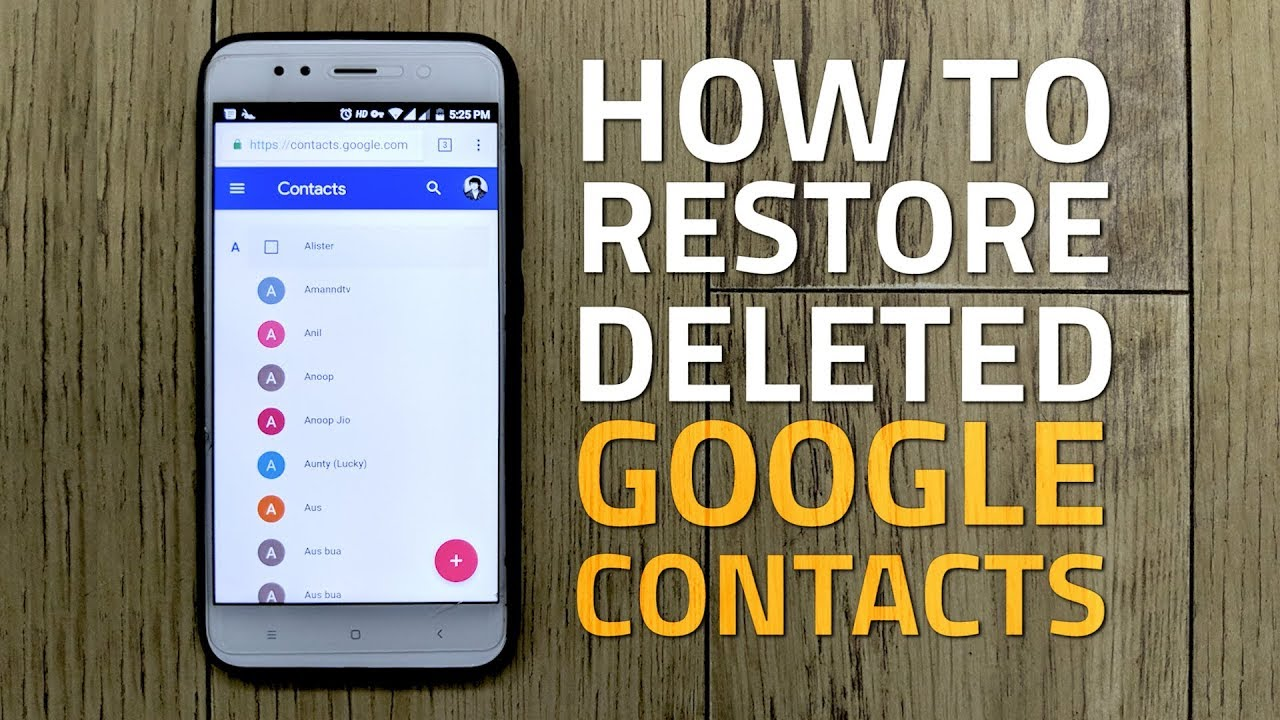 How to restore a phone number