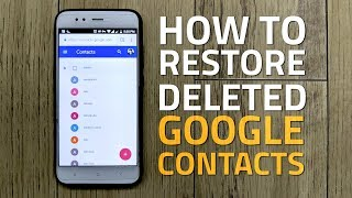 How to Restore Deleted Google Contacts