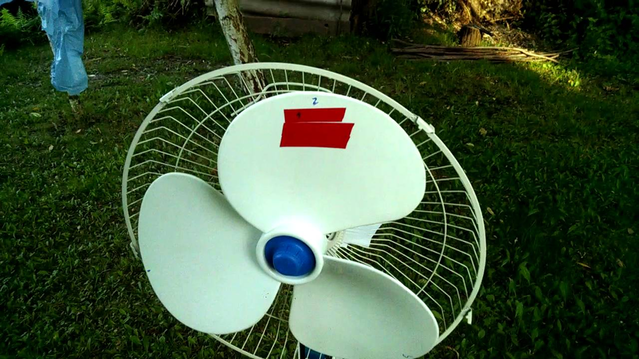 Balancing A Standing Fan With