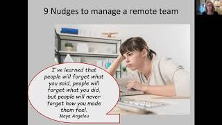 Module 3: 12 Inclusion Nudges to Manage Remote Teams (Training Session)