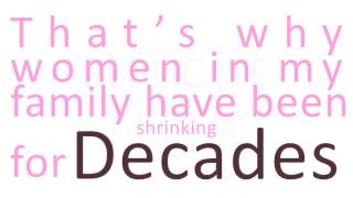 Shrinking Women by Lily Meyers (Kinetic Typography)