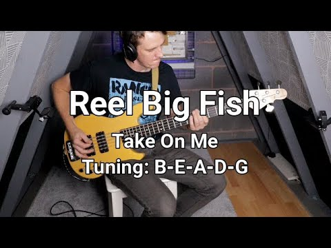 Reel Big Fish - Take On Me Bass Cover (with Tab)