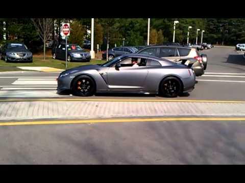 Matte Grey Tuned Nissan Gtr Huge Revving And Loud