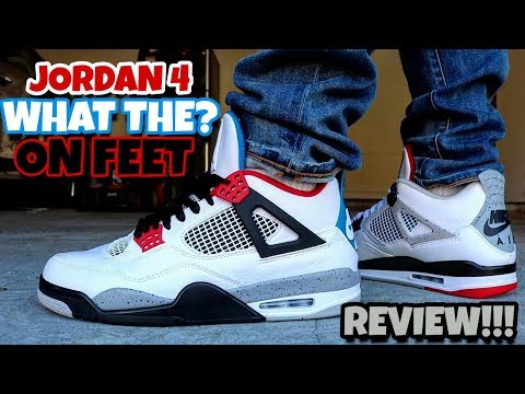 "EARLY LOOK!!! AIR JORDAN 4 RETRO WHAT THE? ""TOP 4"" ON FEET REVIEW!!!"