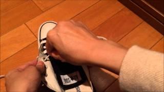 【ファッションの動画】スニーカー靴紐の通し方 thumbnail