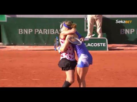 Lucie Safarova and Bethanie Mattek-Sands win 50 shot rally