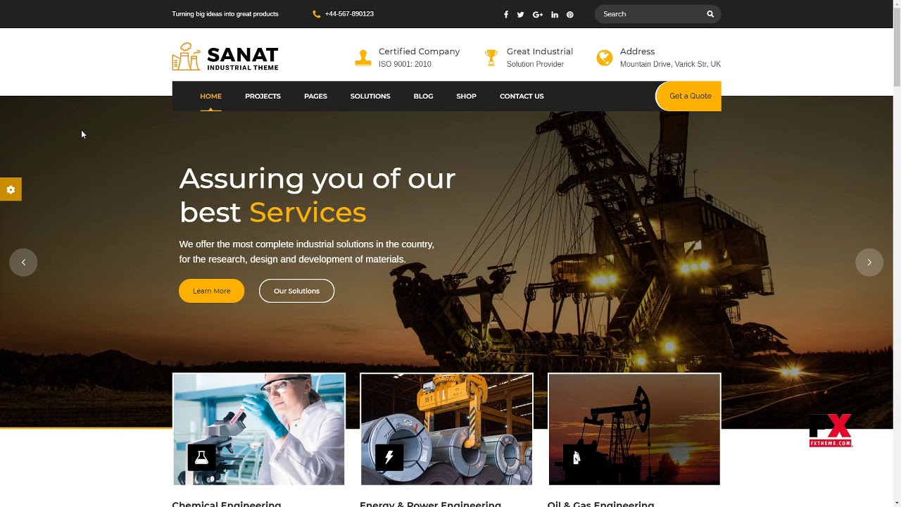 Sanat - Factory and Industry WordPress Theme Ivan Hachirou - YouTube