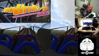 NoLimits 2 Roller Coaster Simulation HTC Vive gameplay in Virtual Reality!