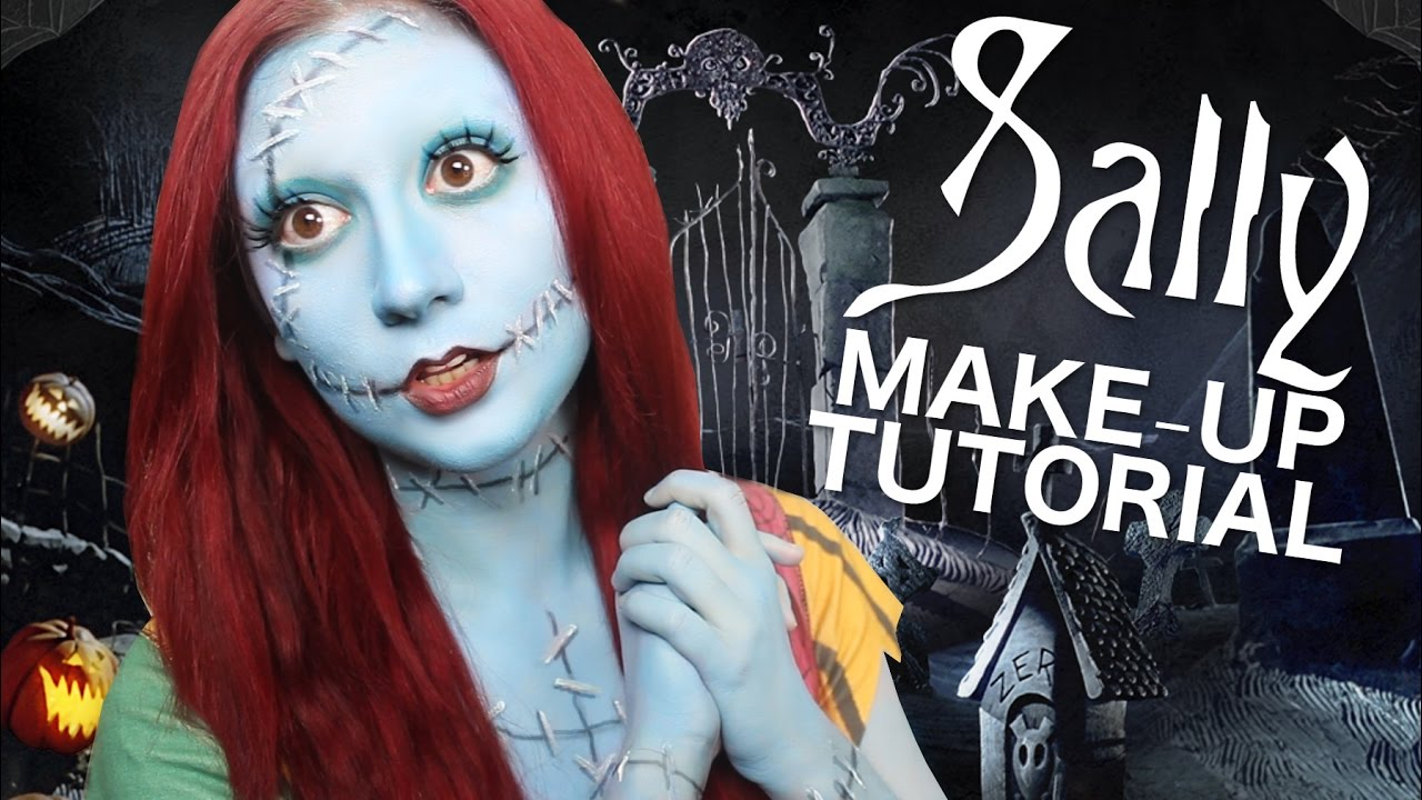 SALLY - NIGHTMARE BEFORE CHRISTMAS - MAKEUP TUTORIAL - YouTube