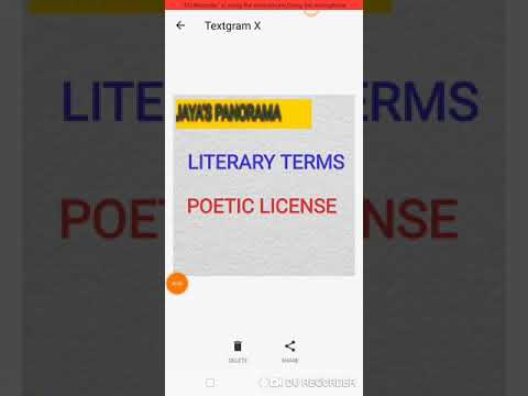 LITERARY TERMS - POETIC LICENSE