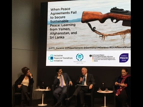 "Event ""When Peace Agreements Fail to Secure Sustainable Peace"""