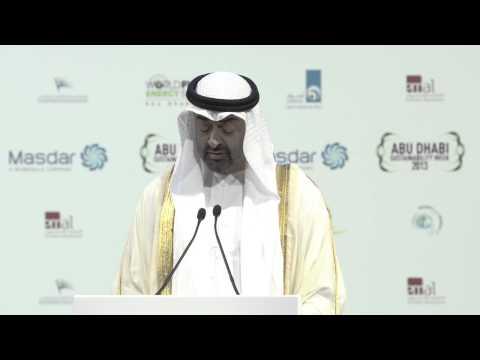 H.H. General Sheikh Mohammed Bin Zayed Al Nahyan   WFES 2013