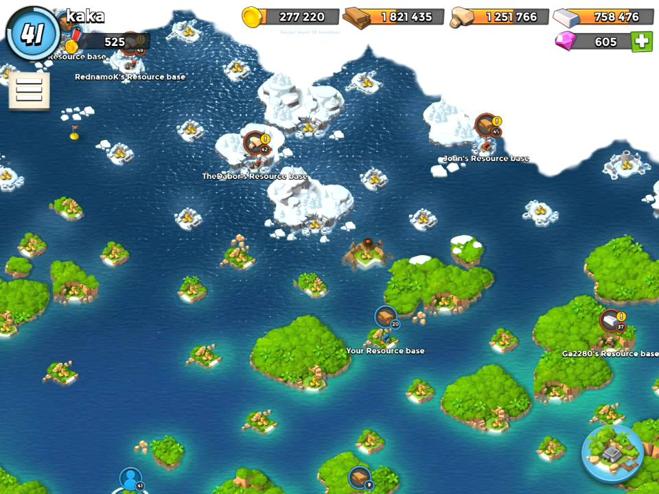 Boom Beach Map Boom Beach Map Completely Cleared of Opponents except Resource  Boom Beach Map
