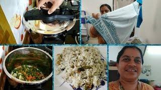 కొత్త steel cooker లో పులావ్ ఎలా వచ్చిందో తెలుసా||New Kurtis||Veg Pulao||SWEET HOME