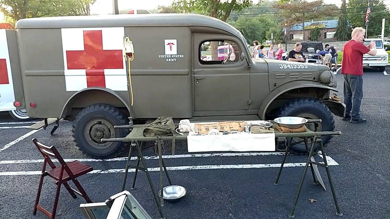 1942 Drab Olive Dodge Wc54 Three Quarter Ton Red Cross Ambulance Museum