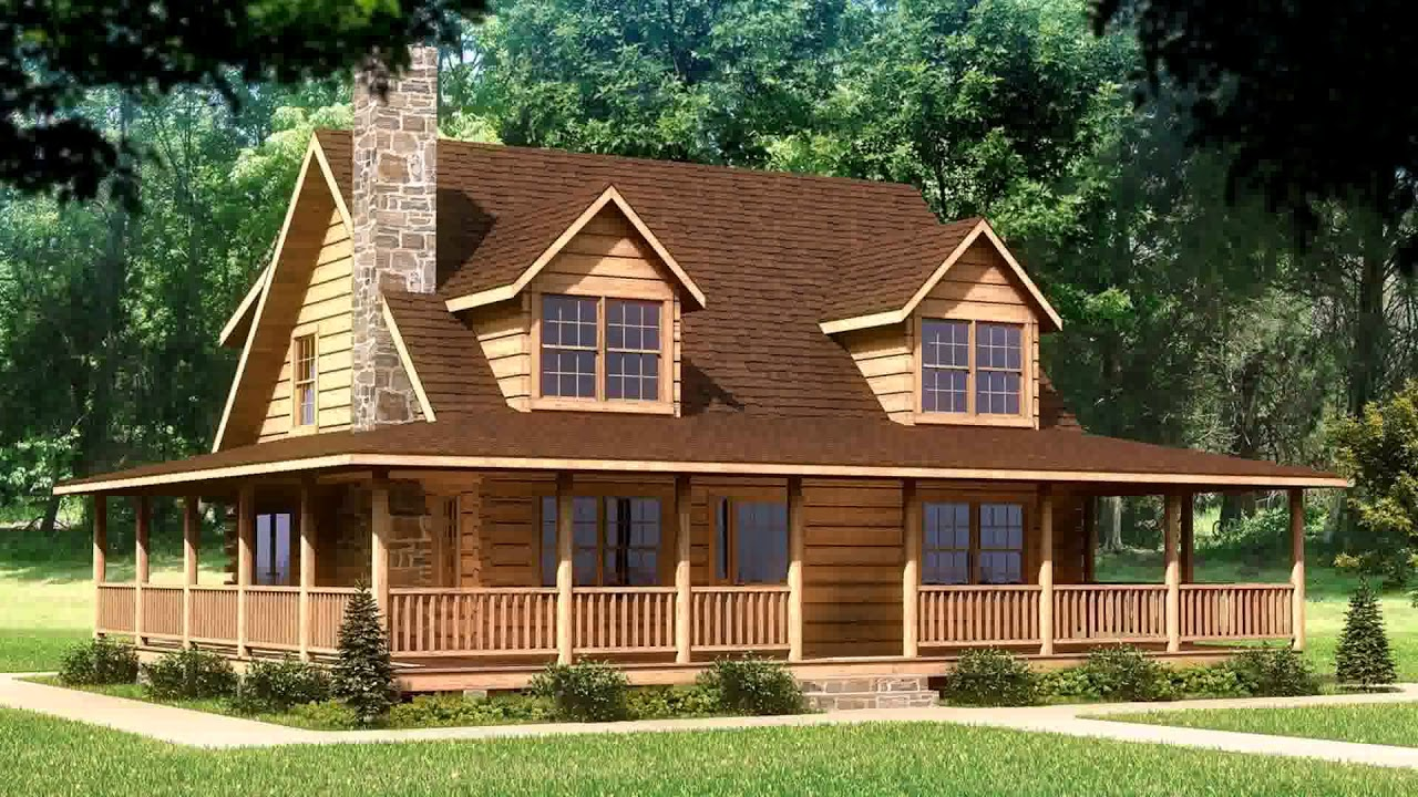 Small Log Cabin Plans With Wrap Around Porch