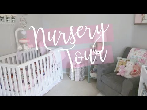 NURSERY TOUR 2017 / on a budget / DIY / inexpensive / baby girl