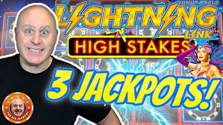 ⚡3 HIGH LIMIT JACKPOT$! ⚡Lightning Link High Stakes at $75 a Spin!  🎰