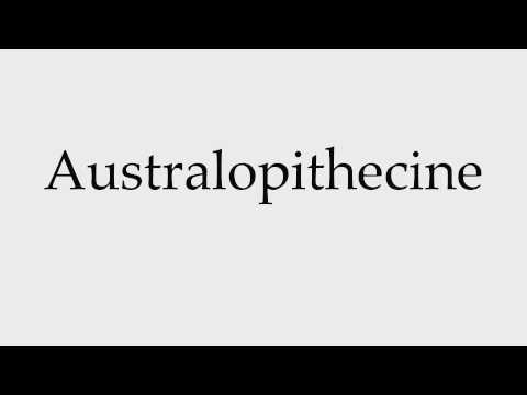 How to Pronounce Australopithecine