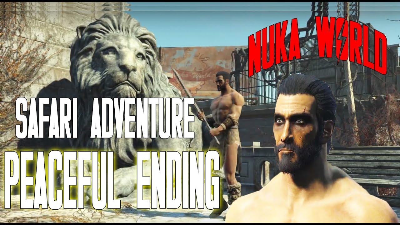 Fallout 4 Nuka World DLC | Safari Adventure | Quest Walkthrough | Peaceful  Ending