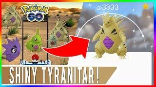 HITTING 100K SUBS LIVE! Pokemon GO Community Day Shiny Larvitar Hunting Shiny Tyranitar Evolution