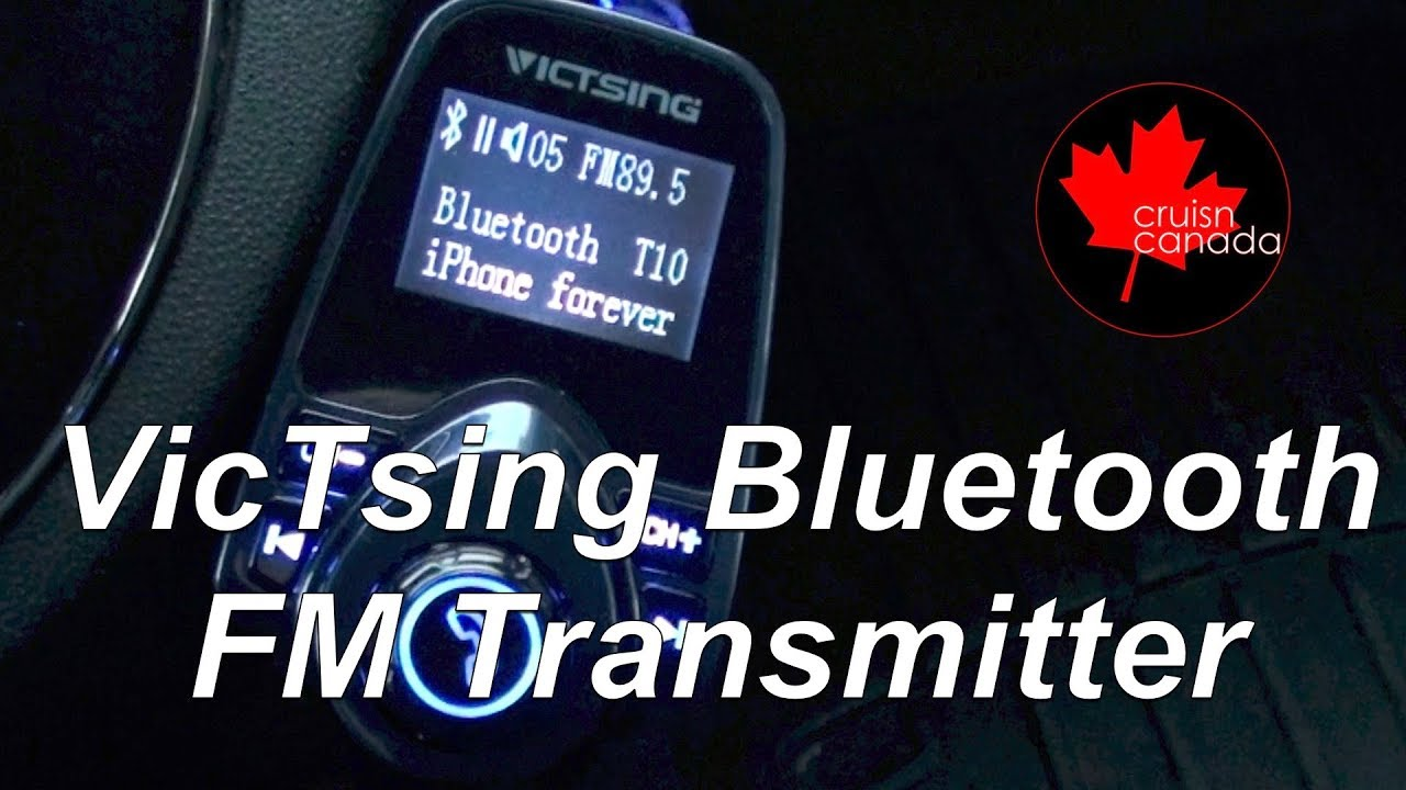 Best upgrade for your non Bluetooth car - VicTsing T10 Bluetooth FM  Transmitter Review and Setup