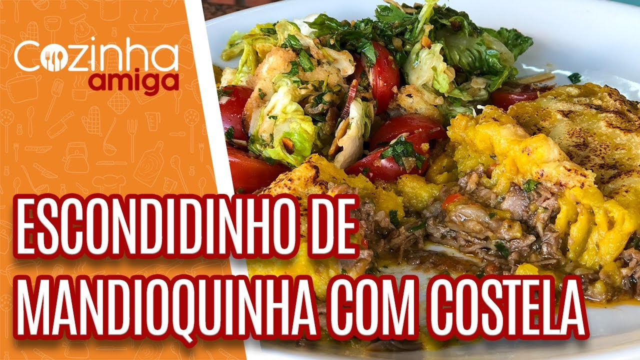 Escondidinho de mandioquinha com Costela - Marcos Baldassari   Cozinha Amiga (15/10/21)