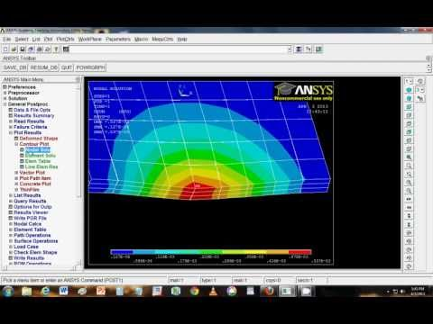 Analysis of composites in ANSYS Mechanical APDL