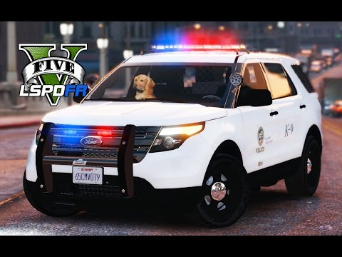 GTA 5 - LSPDFR Ep51 - K-9 Patrol with Officer Gunner!!