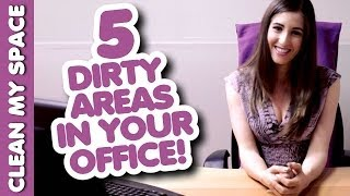 5 Nasty Things At The Office! How to Clean the Dirty Areas Quickly & Easily (Clean My Space) Thumbnail